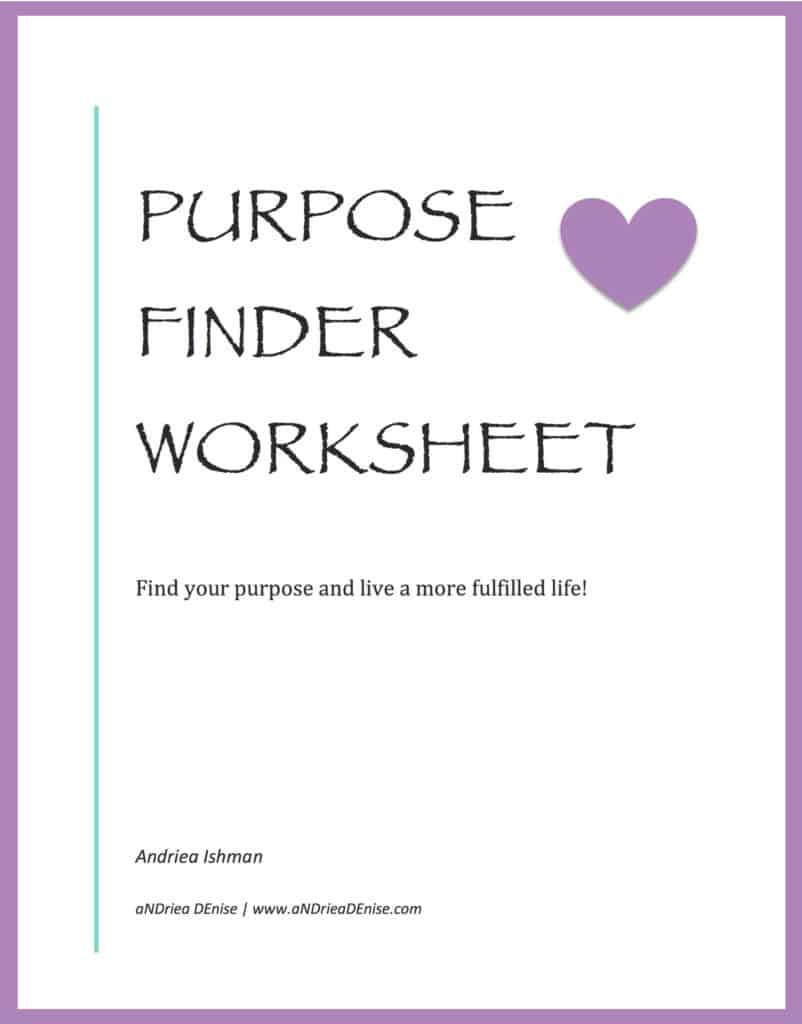 Purpose Finder Worksheet