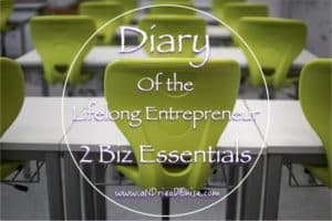 Diary of The Lifelong Entrepreneur: 2 Biz Essentials