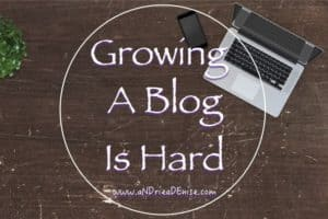 Growing A Blog Is Hard Work: Woe Is Me