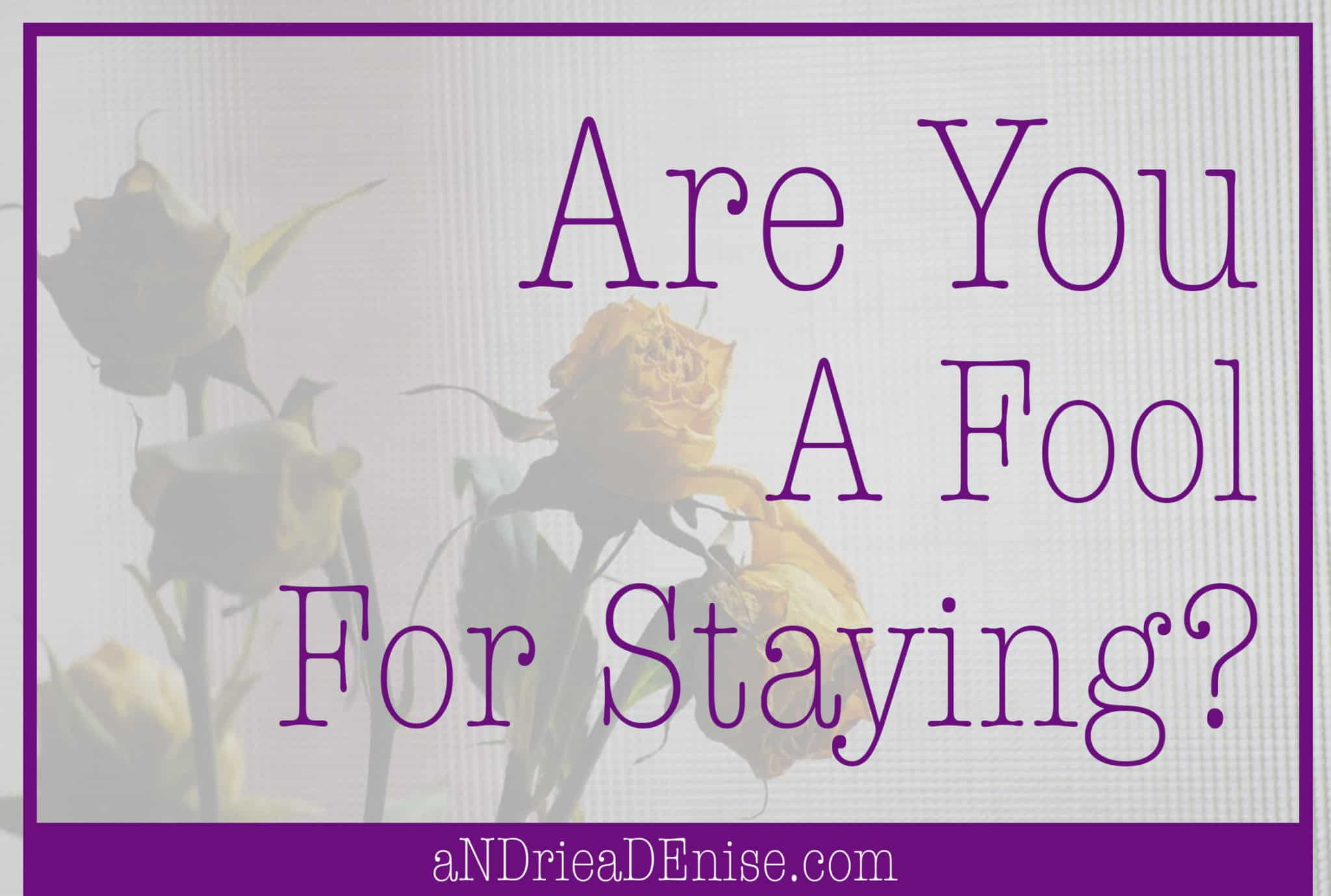 Are you fool for staying in your marriage?