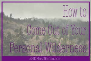 How to Come Out of Your Personal Wilderness