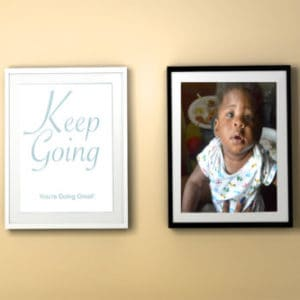 Keep Going Printable Colorful Frame Mockup Yellow