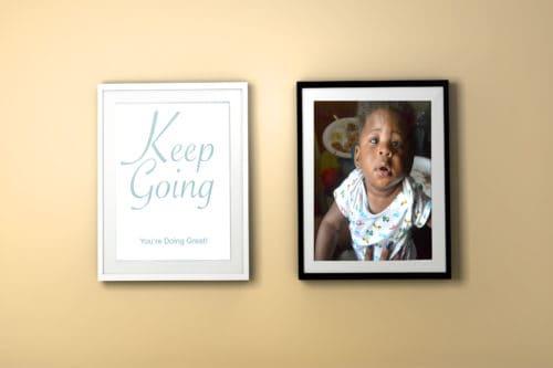 Keep Going Printable Colorful Frame Mockup Yellow