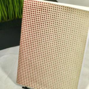 """Red Handed"" Gradient Polka Dot Journal"