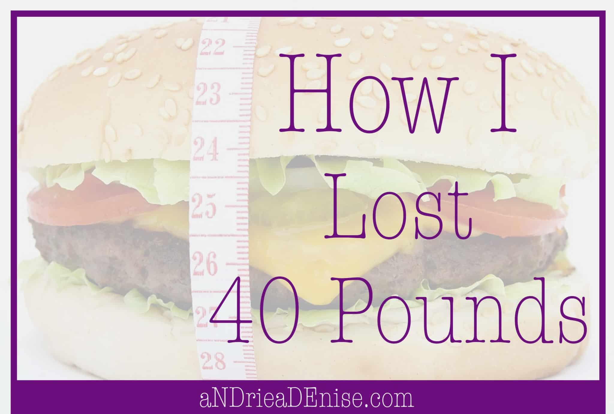 40 lbs weight loss
