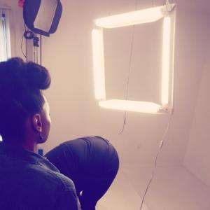 Andriea Denise poses at photo shoot